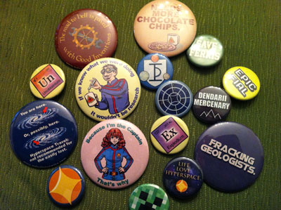 Photograph of a selection of Tara's buttons