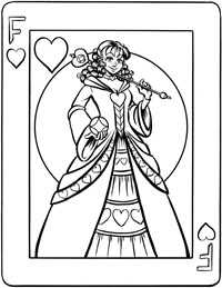 Fusella Queen of Hearts playing card