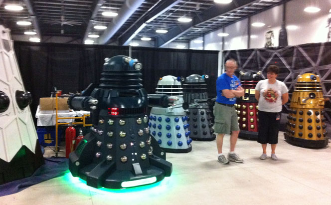 Note the giant-sized Dalek on the left.